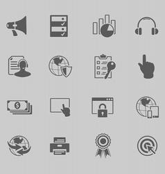 web technology icon set vector image vector image