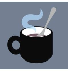 CupWithTeaspoon vector image