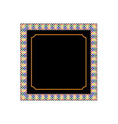 frame with patterns vector image vector image