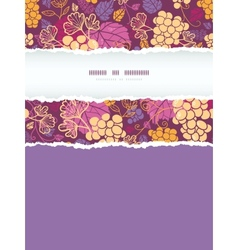 Sweet grape vines vertical torn frame seamless vector image