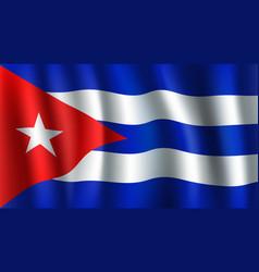 3d flag of cuba cuban national symbol vector