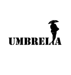 a black-and-white logo with an inscription vector image