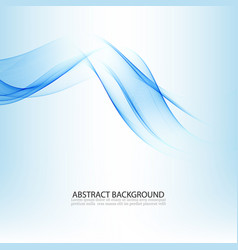 Abstract blue waves background design for vector