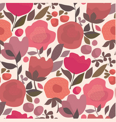 Abstract dust color floral seamless pattern vector