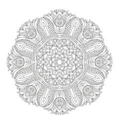 Abstract floral circular mandala vector image