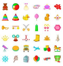 balloon icons set cartoon style vector image