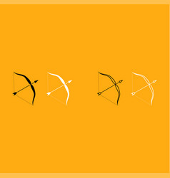 bow and arrow it is white icon vector image