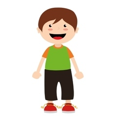 Boy cartoon happy isolated design vector