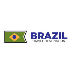 Brazil travel destination emblem vector