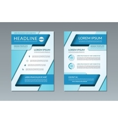 brochure flyer template A4 size vector image