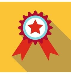 Champion medal icon flat style vector