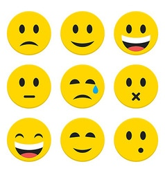 Character emotions happy and sad icons set vector