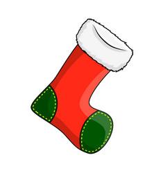 christmas stocking sock symbol icon design vector image