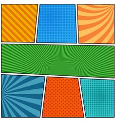 Comic book page blank composition vector
