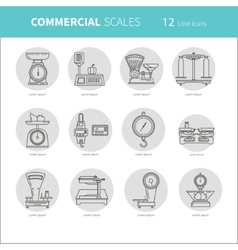 Commercial scales Scales icon vector