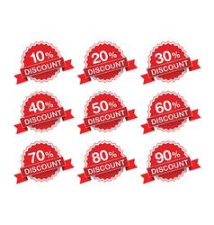 Discount percent sticker price tag vector image