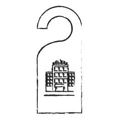 Door hanger icon vector