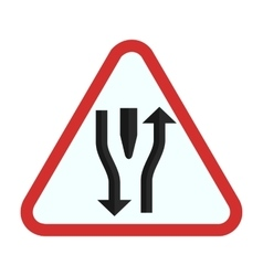 Double lane ahead vector