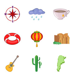 Drought icons set cartoon style vector