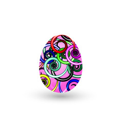easter egg with a pattern on a white background vector image