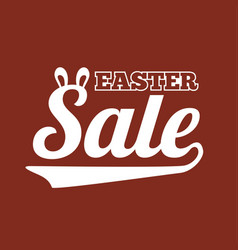 Easter sale type font for business vector