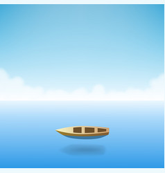 empty boat in the ocean vector image