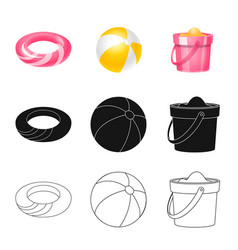 equipment and swimming logo vector image