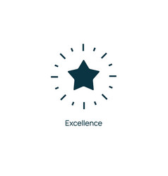 excellence star premium line icon vector image
