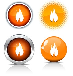 Fire buttons vector