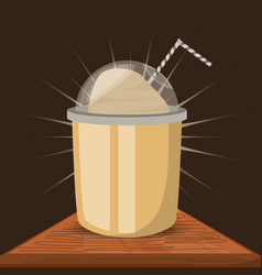 Flat frappe concept types coffee drinks vector
