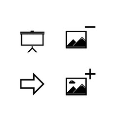 flat picture presentation icons vector image