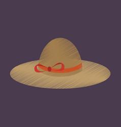 Flat shading style icon women hat vector