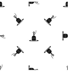 floating bobber pattern seamless black vector image