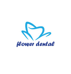 Flower dental logo template vector