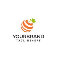 Fresh orange logo design template vector
