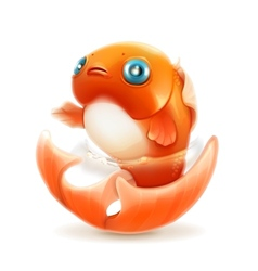 Goldfish icon vector image