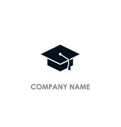 graduation hat university logo vector image