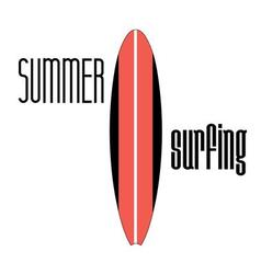 Graphic sign surfboard on a white background vector