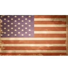 grunge flag of USA vector image