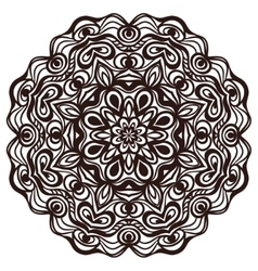 Hand drawn abstract ornamental round lace doily vector image