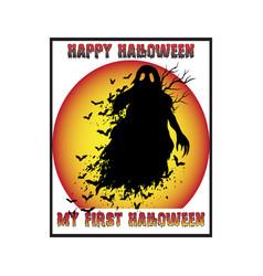 Happy halloween t-shirt design vector