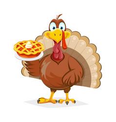 Happy thanksgiving day funny turkey bird vector