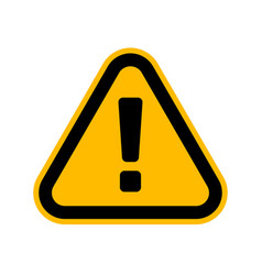 hazard warning attention sign danger triangle vector image