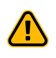 Hazard warning attention sign danger triangle vector