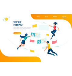 hiring web recruiting presentation vector image