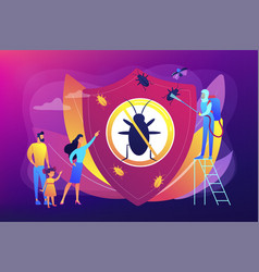 Home pest insects control concept vector