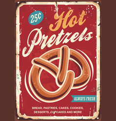 Hot pretzels vector