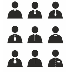 Human icons in different uniforms vector