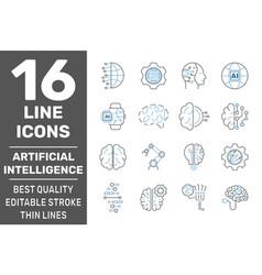 Iot industry 40 artificial intelligence vector
