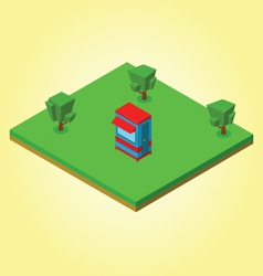 Isometric security cabin vector